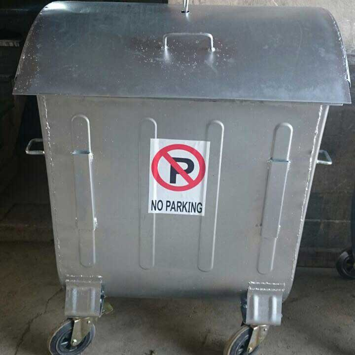 سطل زباله مکانیزه گالوانیزه درب دار