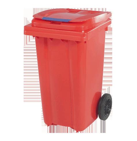 سطل زباله پلی اتیلن درب دار