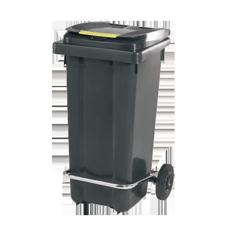 سطل زباله پلی اتیلن چرخدار پدالدار