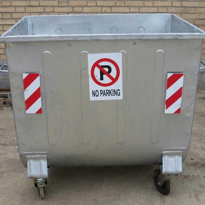 سطل زباله مکانیزه گالوانیزه چهار چرخ