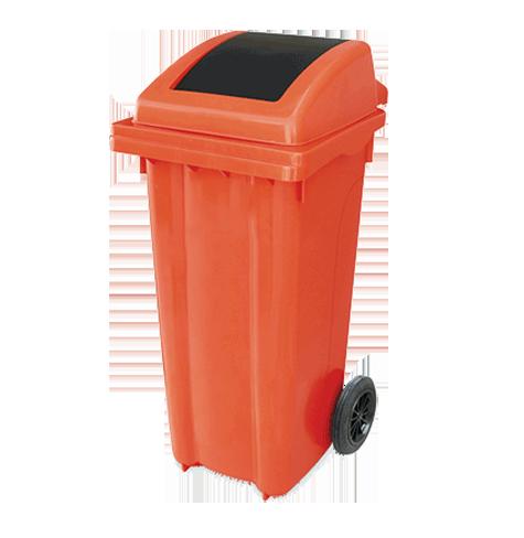 سطل زباله پلی اتیلن درب بادبزنی