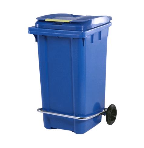سطل زباله پلاستیکی چرخدار پدالدار