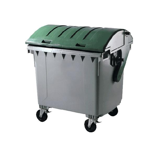 سطل زباله شهری 110 لیتری با درب محدب