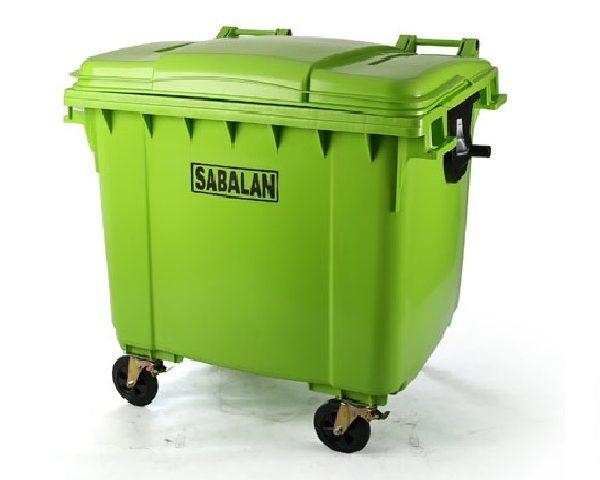 سطل زباله شهری 1100 لیتری سبلان | مخزن زباله شهری