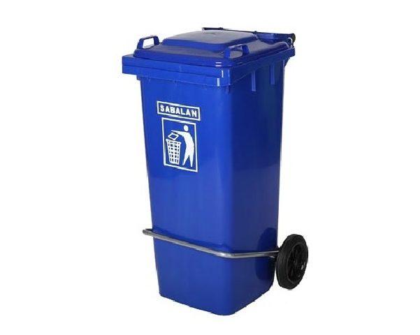 سطل زباله پلاستیکی 100 لیتری پدالی | سطل زباله پدالی