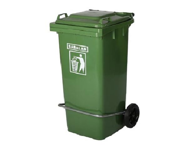 سطل زباله پلاستیکی 120 لیتری پدالدار