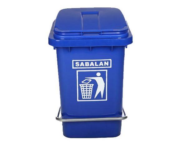 سطل زباله پلاستیکی 40 لیتری پدال دار | سطل زباله پلی اتیلن