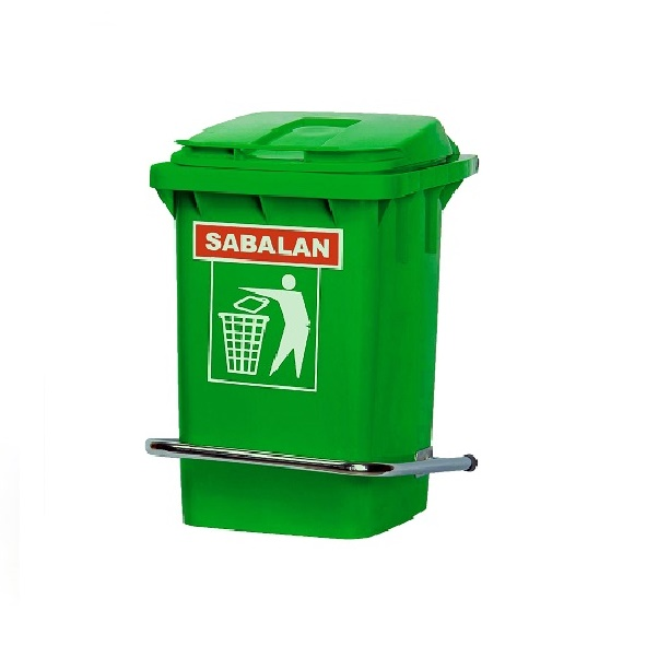 سطل زباله پلاستیکی 60 لیتری پدالدار | سطل زباله پلی اتیلن