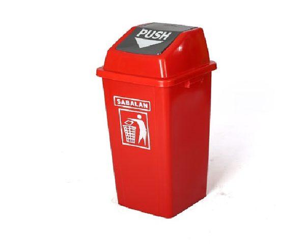 سطل زباله 60 لیتری با درب بادبزنی