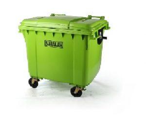 1سطل زباله شهری 1100 لیتری سبلان   سطل زباله پلاستیکی