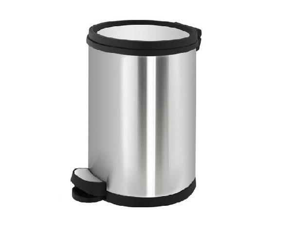 سطل زباله استیل 12 لیتری با درب ارام بند