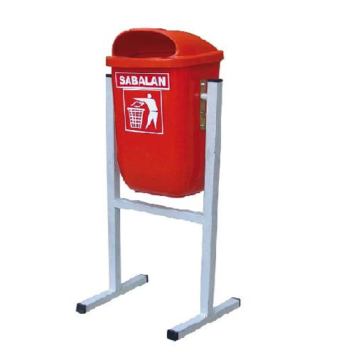 سطل زباله پلاستیکی پارکی 50 لیتری-کد 211